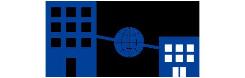 企業様社内の通信ネットワーク/システム構築のイラスト