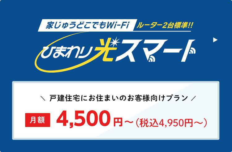 ひまわり光パック 月額4,180円~(税込4,598円~)